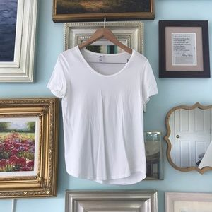 American Apparel white scoop neck t-shirt